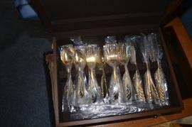 Matching silverware to the black china