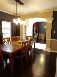 gorgeous slate dining room table and chairs