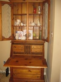 beautiful sold wood secretary desk ( this is upstairs do bring lots of strong help!) We do NOT load furniture!