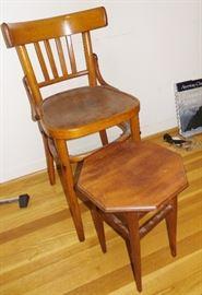 Vintage furniture pieces
