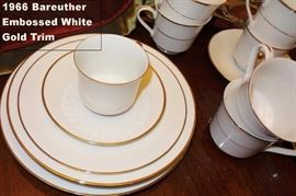 China Bareuther white with gold trim