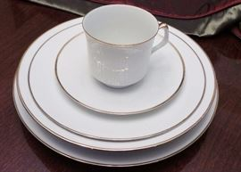 White with gold trim china