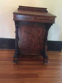 This Victorian Captains - desk is all there.