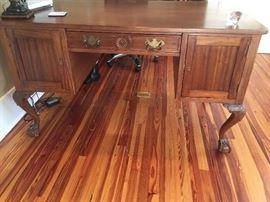 Rare Antique Mahogany Chippendale Partners desk.