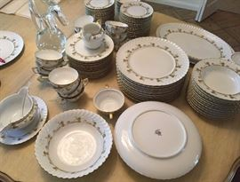 The China Is A Service For 12 5 Pc Pl. Settings w/ Lots Extras - No Ware According To Use