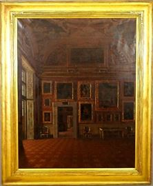 Francesco Maestosi, Italian oil on canvas Pitti Palace interior