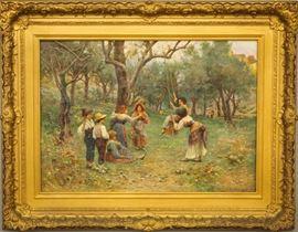 Lorenzo Cecconi, Italian oil on canvas