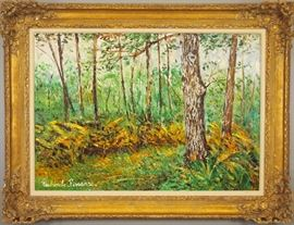 Paul Emile Pissarro, French (1884-1972) youngest son of Camille, oil on canvas landscape