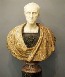 Bronze and Marble bust of Julius Casear