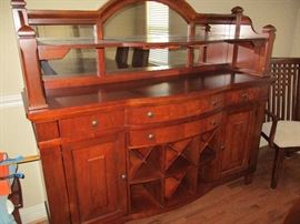 Matching buffet/sideboard w/mirror & wine glass holder & wine rack 68x20x62
