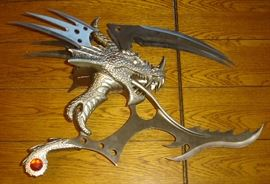 Fantasy dragon knife
