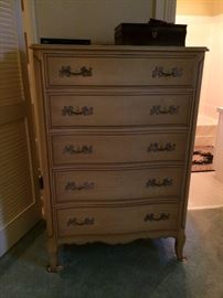 #28 French Provencal beige chest of drawers 34x20x50 $175