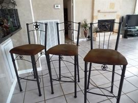 Barstools with leather seats