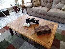 Western style coffee table with matching pair of side tables , tables sold separately