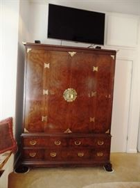Entertainment armoire with lots of storage