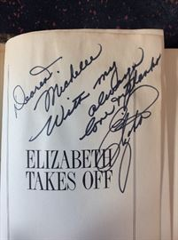 Elizabeth Taylor SIGNED copy of her book.