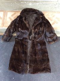 "Fur Coat worn by Michelle as E.T. double in the movie ""Sweet Bird of Youth"", embroidered on the inside ""Michelle"", along with multiple photos of her wearing it w/ Mark Harmon. (1989 TV movie remake of 1962 Paul Newman film)."