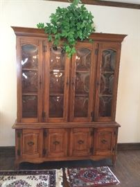 #28 french provincial China Cabinet 55x17x79 $200 — at Sherwood Dr Hsv 35802 Call 803-354-293three.