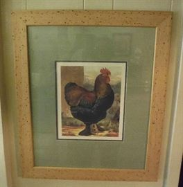 ROOSTER AND HEN PRINTS
