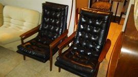 Milo Baughman lounge chairs by Glenn of California.