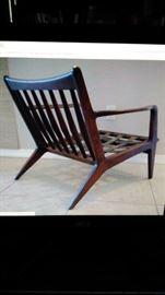 Vintage Selig Larsen Danish lounge chair, 1960.