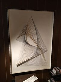 Mid Century string art.