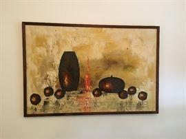 Mid Century oil painting.