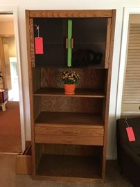 Conant Ball oak cabinet.