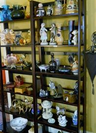 steins, music boxes, Carnival Glass, etc.