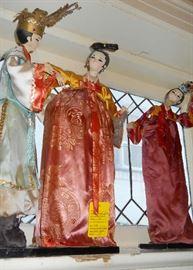 Oriental cloth dolls