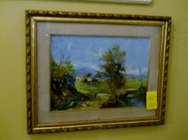 gold framed original art