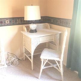 Antique Wicker Desk & chair
