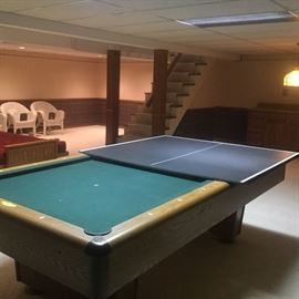 Pool table with custom fit ping pong table table top