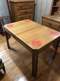 WONDERFUL ART DECO TABLE W/TWO CHAIRS