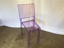 "Vilot transparent ""La Marie"" chair, designed by Philippe Starck for Kartell"