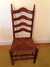 Maple Rush Seat Ladder Back Chair - 3 of 3