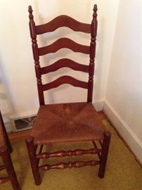 Maple Rush Seat Ladder Back Chair - 2 of 3