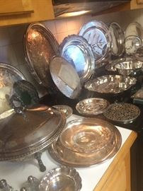 It wouldn't be an Ortega estate sale with out an awesome amount of silver plate!