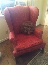We always expect a wing back chair in any estate sale but this one is large and in charge!   Living room quality… No doubt!