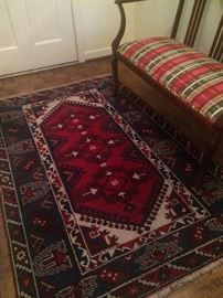 Fabulous hand knotted foyer rug...I moved it from the guest bedroom!