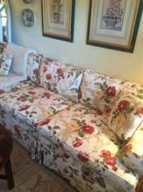 The best seat in the house… For people or maybe five… Can sit on this pristine sofa! Of course, no one ever did!
