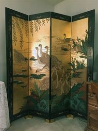 Fabulous Vintage Asian Screen