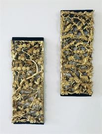 Pair Gold Plaques