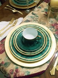 "Set Christian Dior China - ""Malachite"""