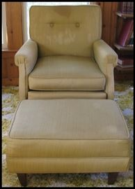 1971 Mustard colored chair and ottoman needs cleaning