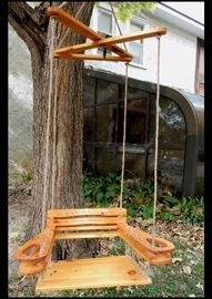 Adult size outdoor wooden swing