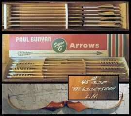 Arrows by Paul Bunyan and others plus Bows