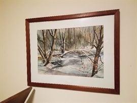 Winter scene, signed painting