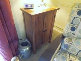 Small Wood cabinet with slate top section