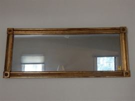 Antique Gold Leaf on Wood Mirror